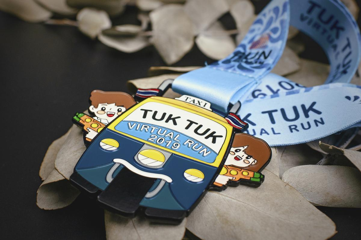 เหรียญ Tuk Tuk Virtual Run 2019