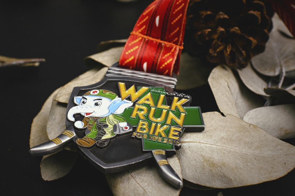 เหรียญ Walk Run Bike